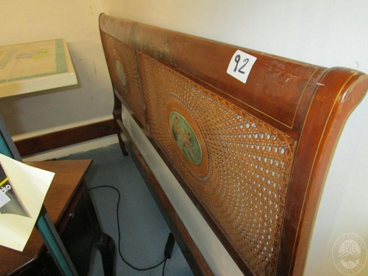 Lotto 92bis n 1 spalliera letto matrimoniale in legno dipinta - Spalliera letto matrimoniale legno ...