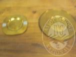 Immagine di Lotto P1020751: posacenere + sottovaso in metallo dorato