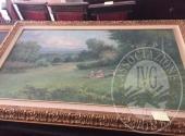 Lotto 1: Dipinto raffigurante paesaggio campestre brianzolo a firma Mottadelli