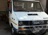 AUTOCARRO IVECO TURBODAILY 49-10 TG. VI 730871 IMM. 1988 CON PIATTAFORMA AEREA ANNO 1987